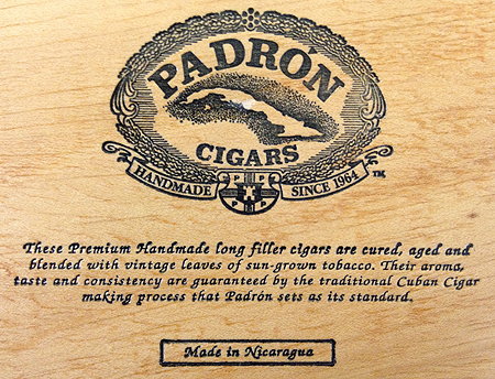 We carry Padron Premium Cigars